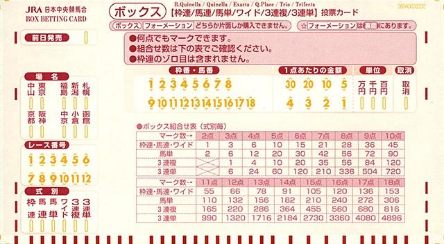 JRAマークカード赤・ボックス